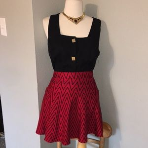 Candies red and black skirt